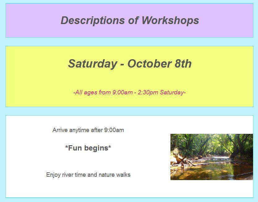 October schedule top screenshot 4