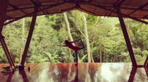 Diamante Center rainforest yoga deck